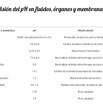pH fluido y órganos en la dita alcalina